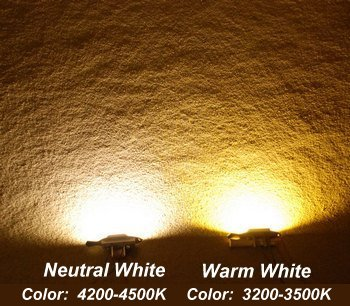 Neutral White compared with Warm White