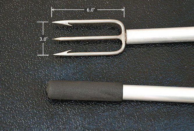 Stainless steel 3 prong barbed gigs